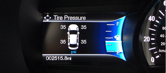 Standard On All  Ford Edge Models Individual Tire Pressure Monitoring System Monitors Air Pressure Amounts For Each Tire And Will Illuminate A Warning