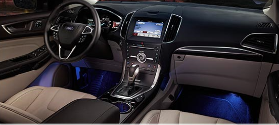 Choose lighting that fits your mood with the available programmable seven-colour ambient lighting feature thatu0027s standard in 2017 Ford Edge Titanium and ... & Ford Edge Overview azcodes.com